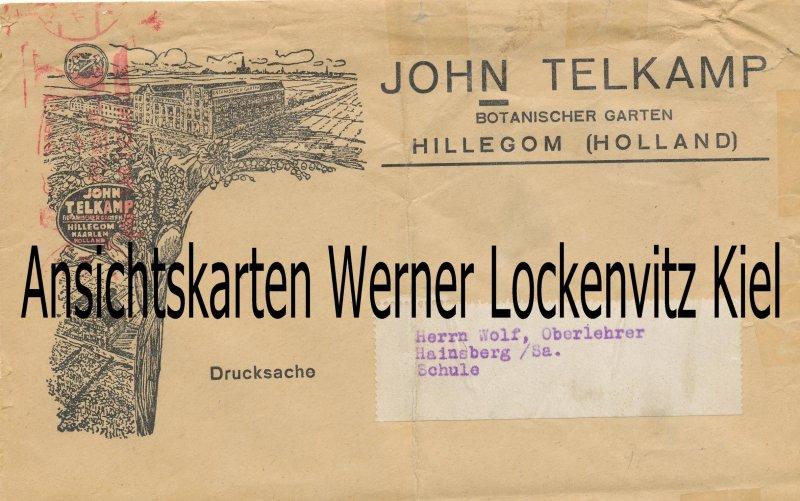 Niederlande Hillegom John Telkamp Botanischer Garten Geschäftsbrief