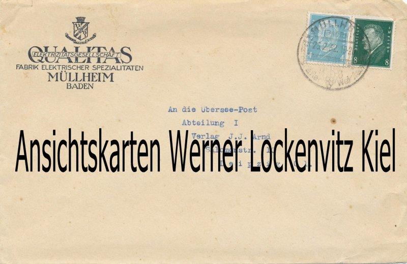 Müllheim Baden Firma Qualitas Elektrizitätsgesellschaft Geschäftsbrief