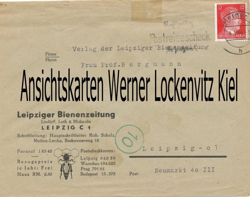 Leipzig Bienenzeitung Liedloff Loth und Michaelis Geschäftsbrief