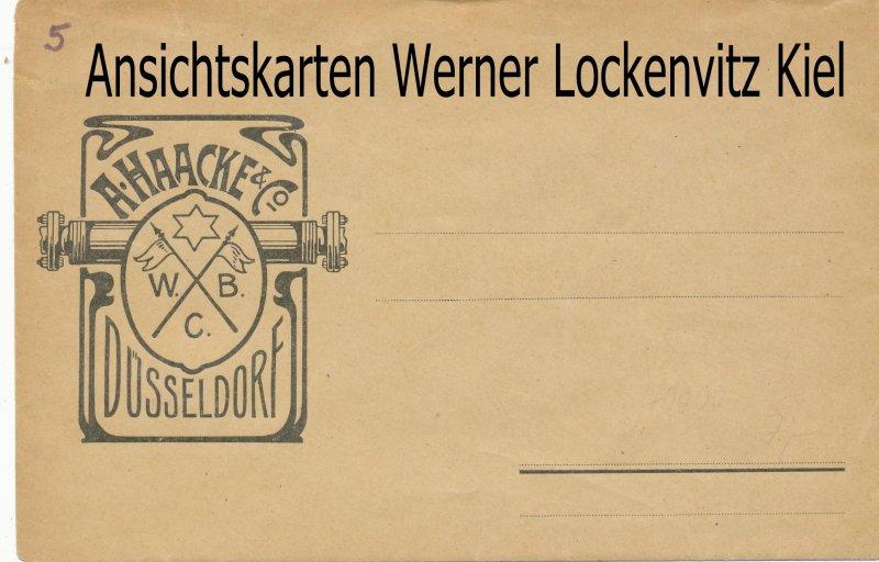 Düsseldorf Firma A. Haacke & Co. W.B.C. Geschäftsbrief