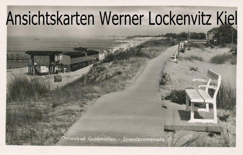 Ansichtskarte Polen Pommern Großmöllen Mielno Strandpromenade