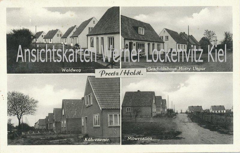 Ansichtskarte Preetz in Holstein Waldweg Möwenstieg