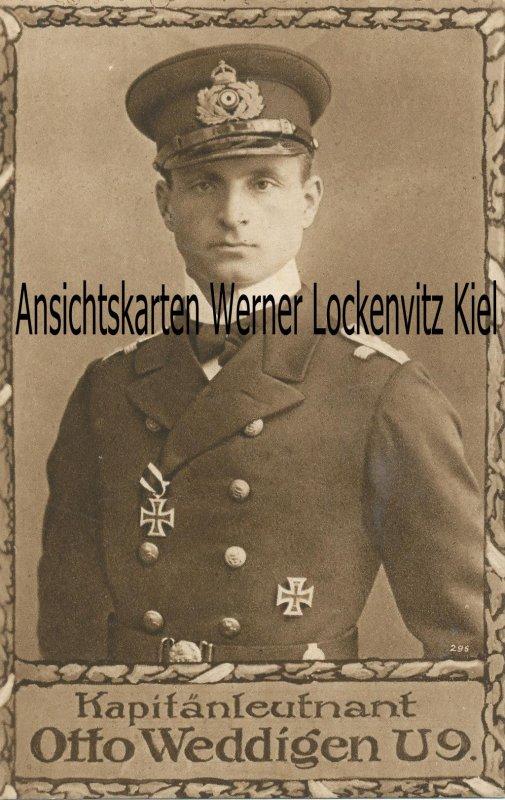 Ansichtskarte Kapitänleutnant Otto Weddigen