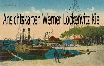 Ansichtskarte Ägypten Ismailia Lac Timsah mit Dampfer Edmond