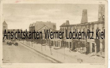 Ansichtskarte Polen Ostpreußen Gołdap Sraßenansicht Ermland-Masuren