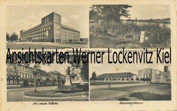 Ansichtskarte Polen Posen Schneidemühl Pila Am neuen Markt Reichsdankhaus