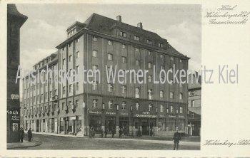 Ansichtskarte Polen Waldenburg Wałbrzych Hotel Waldenburger Hof Bes. W. Fischborn
