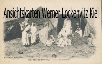 Ansichtskarte Tente de Nomades Beduinen Scenes et Types