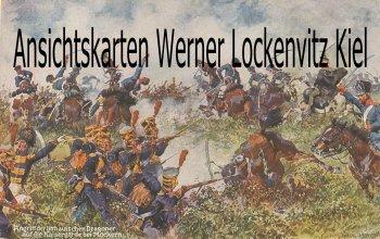 Ansichtskarte Angriff der Lithauischen Dragoner auf die Kaisergarde bei Möckern sign. Anton Hoffmann