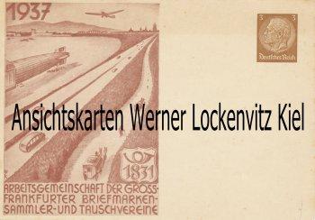Arbeitsgemeinschaft der Gross-Frankfurter Briefmarkensammler- und Tauschvereine 1937 Ganzsache Zeppelin Kutsche