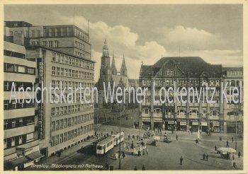Ansichtskarte Polen Breslau Wroclaw Blücherplatz mit Straßenbahn
