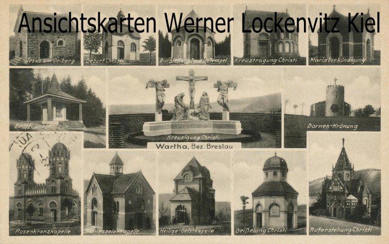 Ansichtskarte Polen Schlesien Wartha Bardo Kapellen mit LpStpl. Riegersdorf