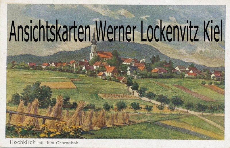 Ansichtskarte Hochkirch Ortsansicht mit dem Czorneboh