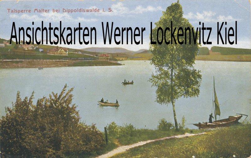 Ansichtskarte Dippoldiswalde Talsperre Malter