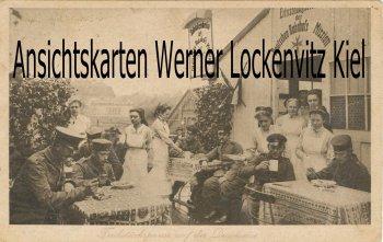 Ansichtskarte Deutsche Bahnhofsmission Frühstückspause auf der Durchreise Soldaten