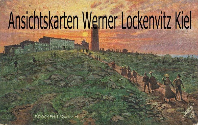 Ansichtskarte Ausflügler auf dem Weg zum Brocken