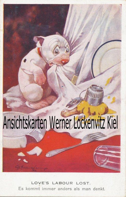 Ansichtskarte Bonzo Es kommt immer anders als man denkt Künstlerkarte von George Ernest Studdy