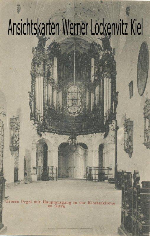 Ansichtskarte Polen Danzig-Oliva Gdansk-Oliwa Grosse Orgel in der Klosterkirche
