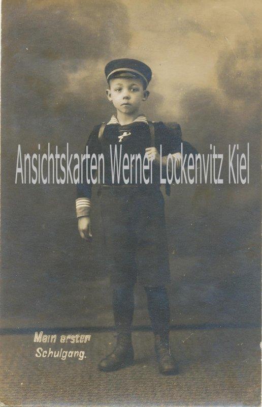 Ansichtskarte Kiel Einschulung Mein erster Schulgang
