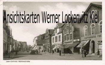Ansichtskarte Leer Ostfriesland Mühlenstraße
