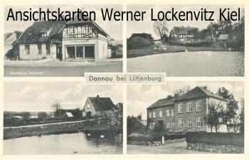 Ansichtskarte Dannau Kaufhaus Schmidt Häuser Teich mit LPStpl.