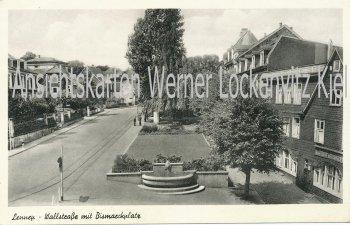 Ansichtskarte Remscheid-Lennep Wallstraße mit Bismarckplatz