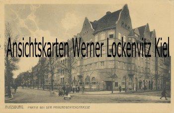 Ansichtskarte Augsburg Partie bei der Prinzregentenstrasse