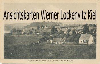Ansichtskarte Polen Neuendorf Wisełka Ortsansicht Insel Wollin