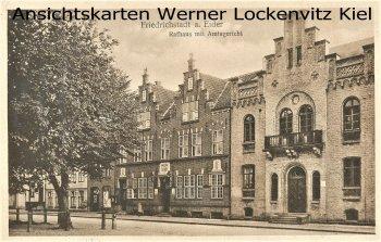 Ansichtskarte Friedrichstadt Eider Rathaus mit Amtsgericht