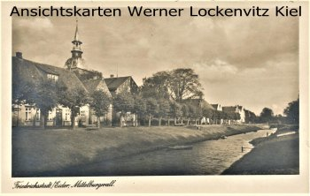Ansichtskarte Friedrichstadt Eider Mittelburgwall