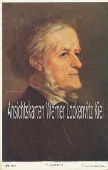 Ansichtskarte Richard Wagner pinx. Herrmann Porträt Musik