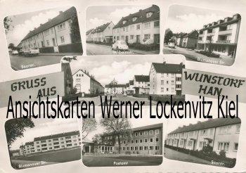 Ansichtskarte Wunstorf Saarstraße Wilhelmstraße Blumenauer Str.