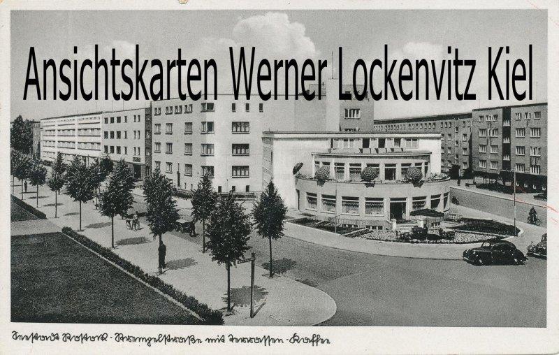 Ansichtskarte Rostock Partie am Terrassen Kaffee Straßenansicht