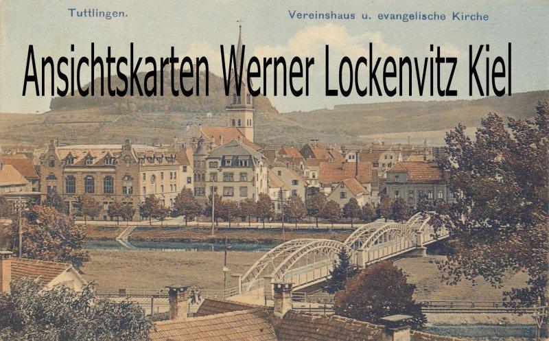 Ansichtskarte Tuttlingen Vereinshaus und evangelische Kirche
