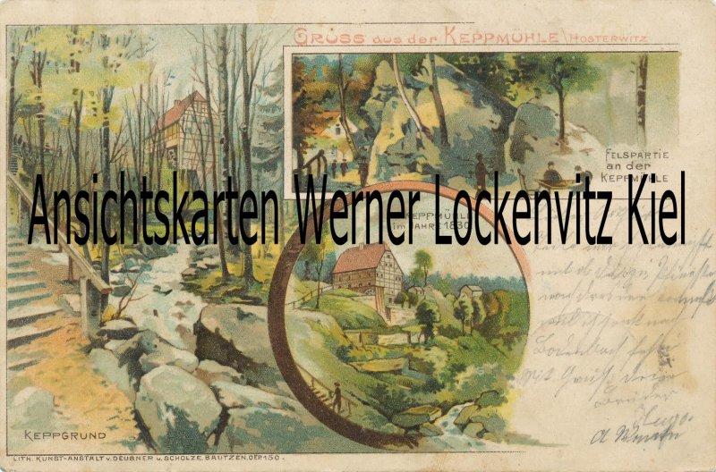 Ansichtskarte Dresden-Hosterwitz Keppmühle Litho