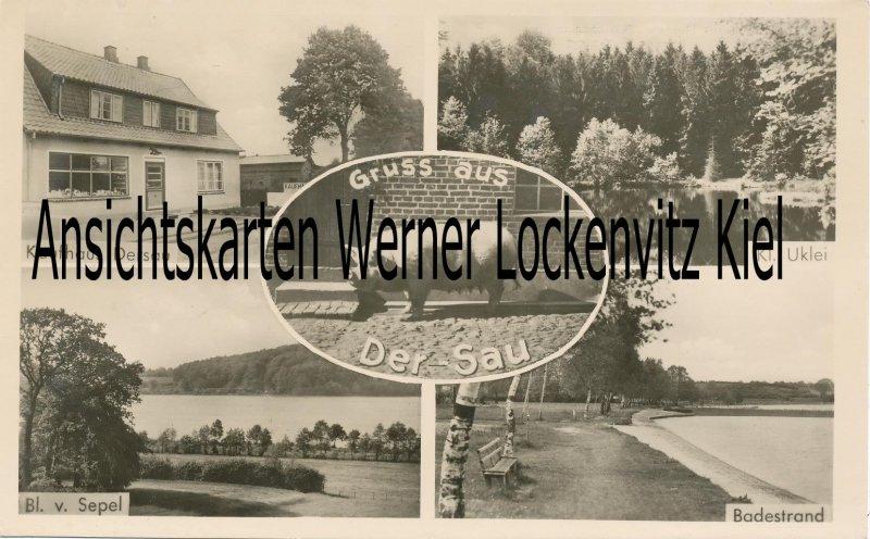 Ansichtskarte Gruss aus Dersau mit Kaufhaus Bes. M. Schümann