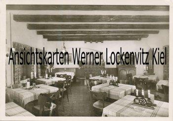 Ansichtskarte Berlin-Kladow Restaurant und Cafe Waldidyll Bes. R. Mühldorfer Innenansicht
