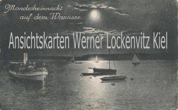 Ansichtskarte Berlin Mondscheinnacht auf dem Wannsee