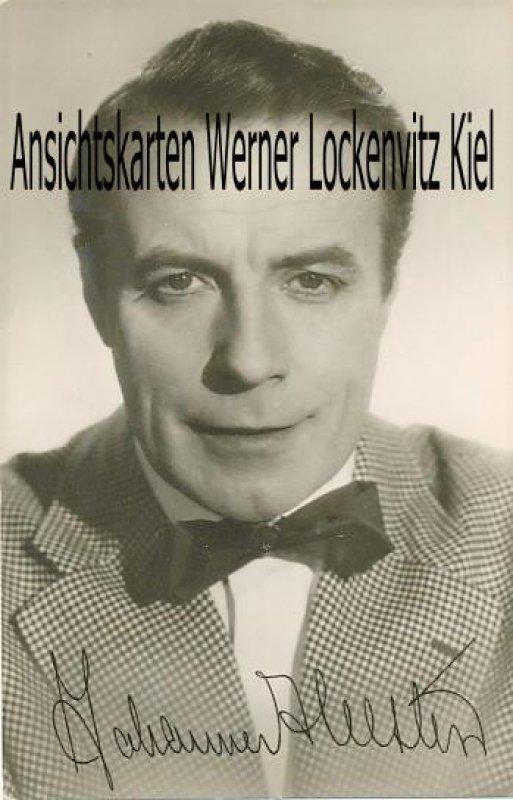 Ansichtskarte Johannes Heesters DDR-Autogrammkarte