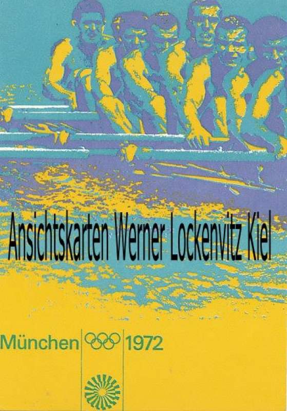 Ansichtskarte München Olympiade 1972 Rudern