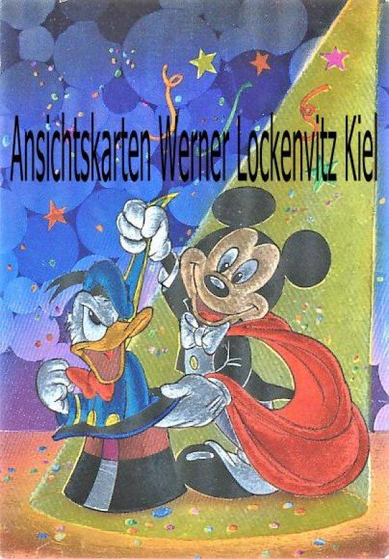 Ansichtskarte Mickey Mouse und Donald Duck zaubern Comic Disney
