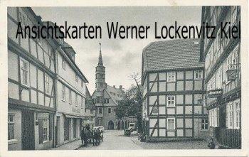 Ansichtskarte Korbach Lengefelderstraße mit Gasthaus zur Krone und Kirche