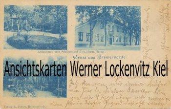 Ansichtskarte Bremervörde Schützenhof Inh. Herm. Harms