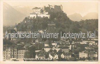 Ansichtskarte Österreich Salzburg Stadtansicht mit Festung Hohensalzburg