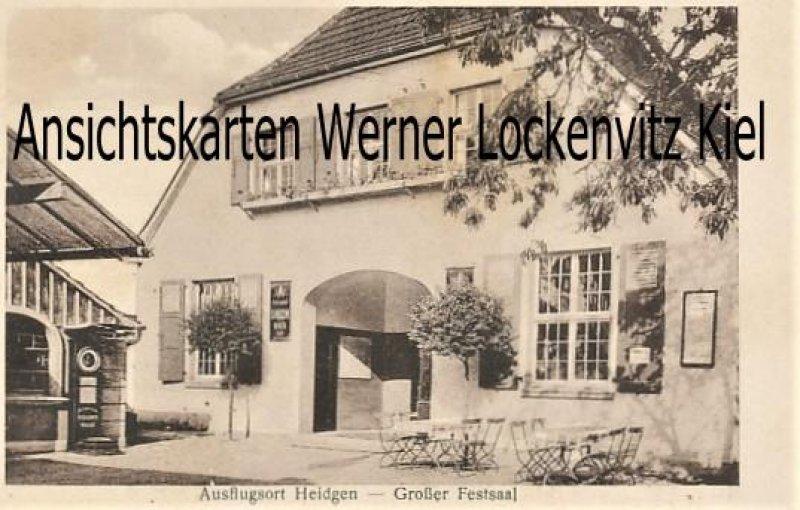 Ansichtskarte Köln-Dellbrück Bergisch Gladbach Paffrath Ausflugsort Heidgen Gasthaus mit Personenwaage Inh. Ferd. Grieß