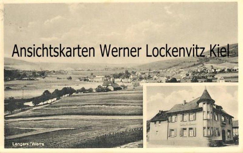 Ansichtskarte Heringen-Lengers Werra Gasthaus Inh. Fritz Dehnert Ortsansicht