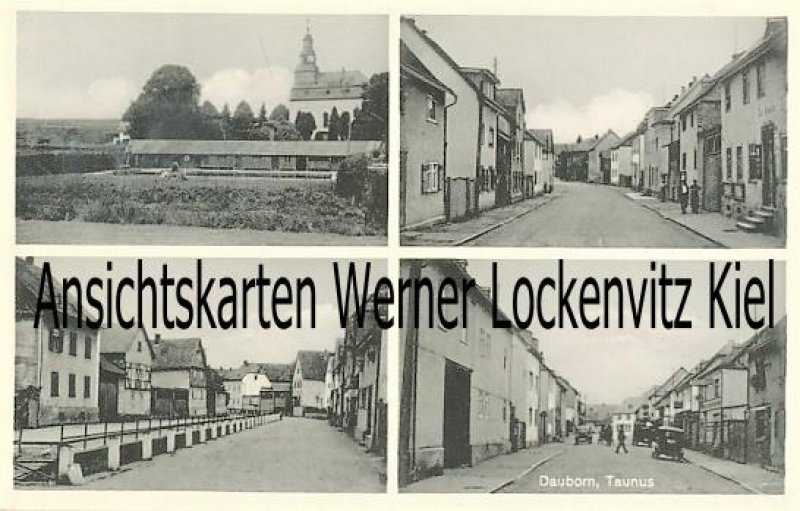 Ansichtskarte Hünfelden-Dauborn Taunus Straßenansichten