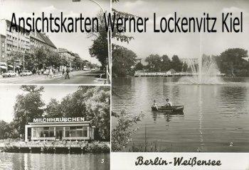 Ansichtskarte Berlin-Weißensee Milchhäuschen Klement-Gottwald-Allee