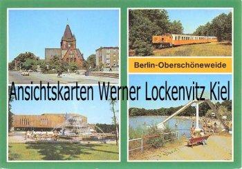 Ansichtskarte Berlin-Oberschöneweide Pionierpalast Park Badesee Eisenbahn