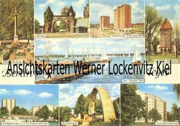 Ansichtskarte Berlin-Tegel Borsig Ziekowstraße Hochhäuser Strandpromenade